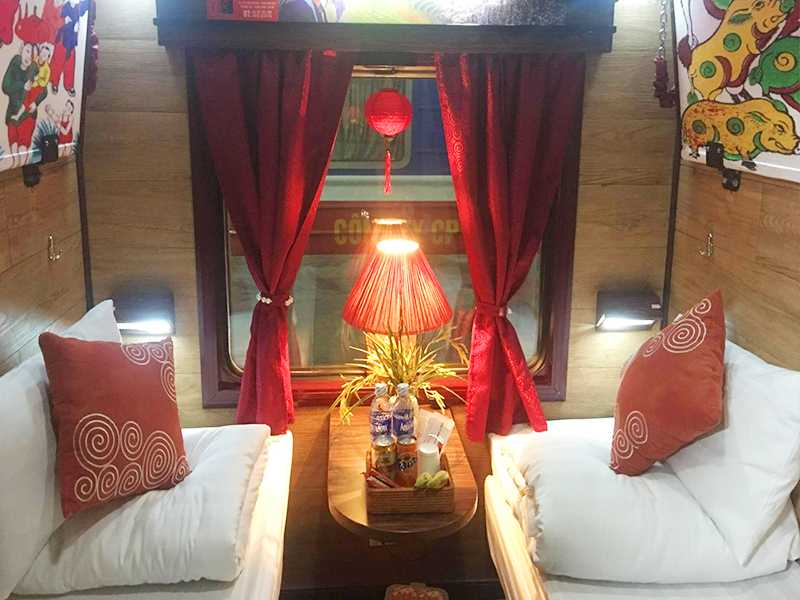 Luxury Sleeping Train Ticket with A/C (Private 2 Soft Berths in Cabin)